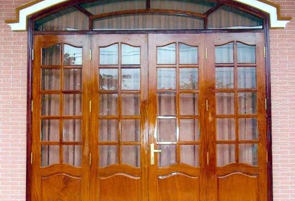 cửa sắt giả gỗ đẹp - cơ khí trần mười
